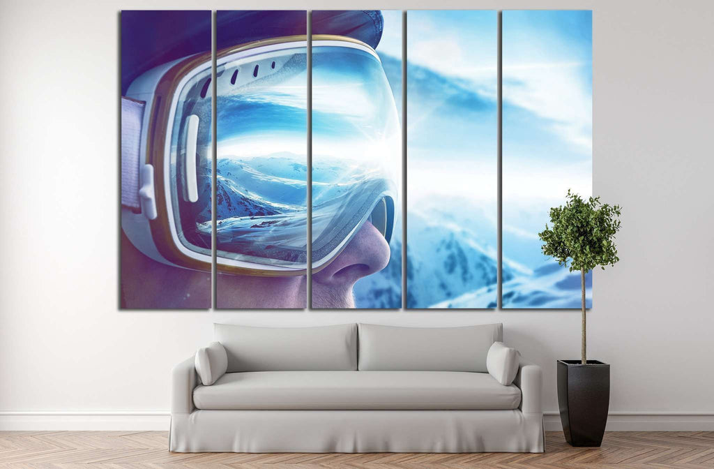 Skier №185 Ready to Hang Canvas Print
