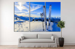 Skiing №184 Ready to Hang Canvas Print