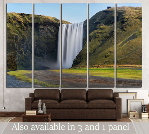 Skogafoss waterfall. Iceland. Long exposure №3081 Ready to Hang Canvas Print