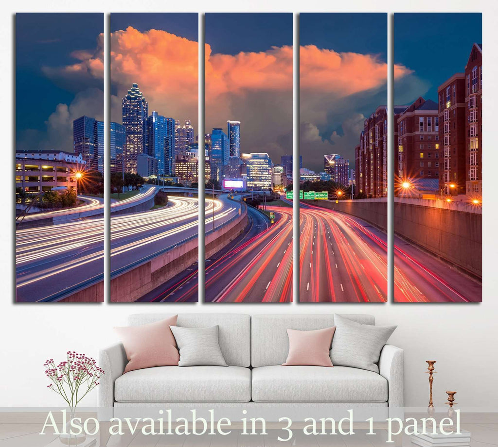 Skyline of Downtown Atlanta, Georgia USA №1530 Ready to Hang Canvas Print