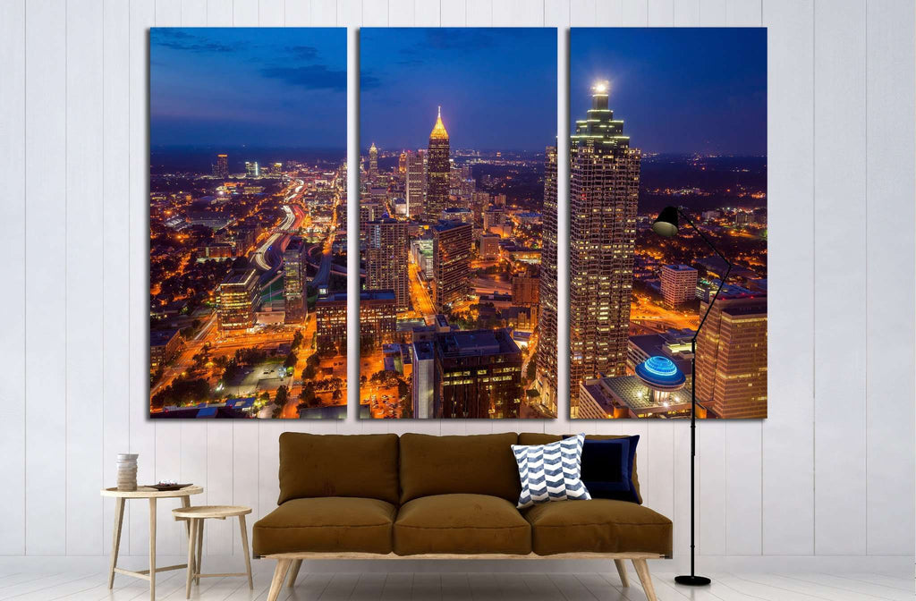Skyline of downtown Atlanta, Georgia, USA №1632 Ready to Hang Canvas Print