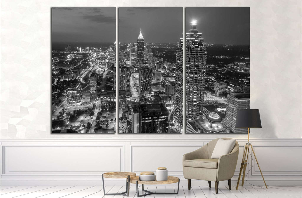 Skyline of downtown Atlanta, Georgia, USA №1685 Ready to Hang Canvas Print
