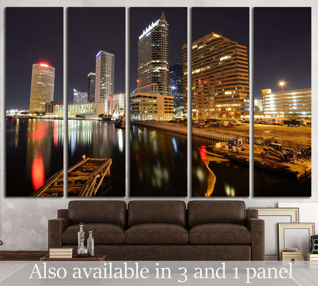 skyline of downtown Tampa, Florida №1667 Ready to Hang Canvas Print