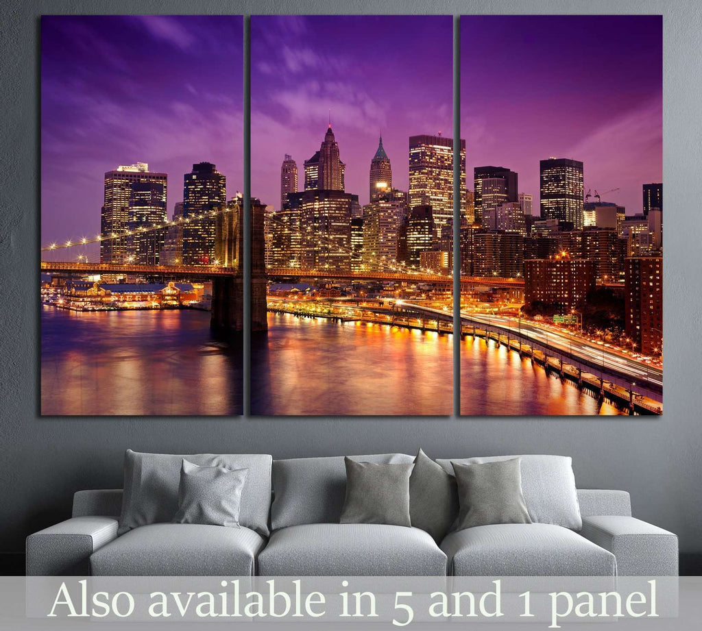 Skyline of New York №585 Ready to Hang Canvas Print
