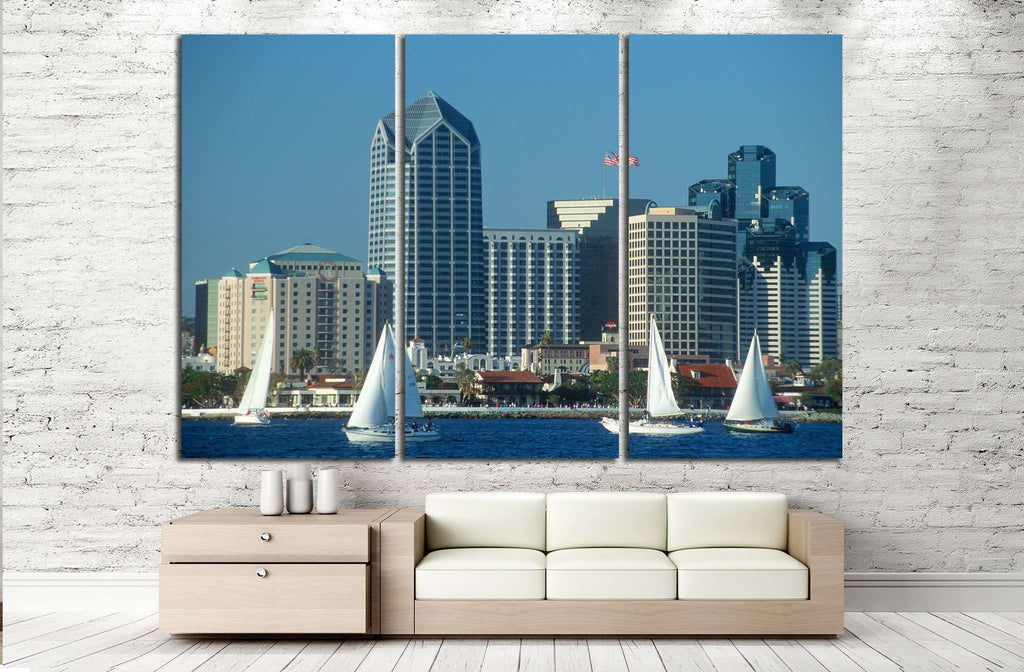 Skyline of San Diego, California №1011 Ready to Hang Canvas Print