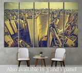 Skyline of Sao Paulo downtown, Brazil №1519 Ready to Hang Canvas Print