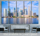 skyline of singapore by the marina bay №1768 Ready to Hang Canvas Print