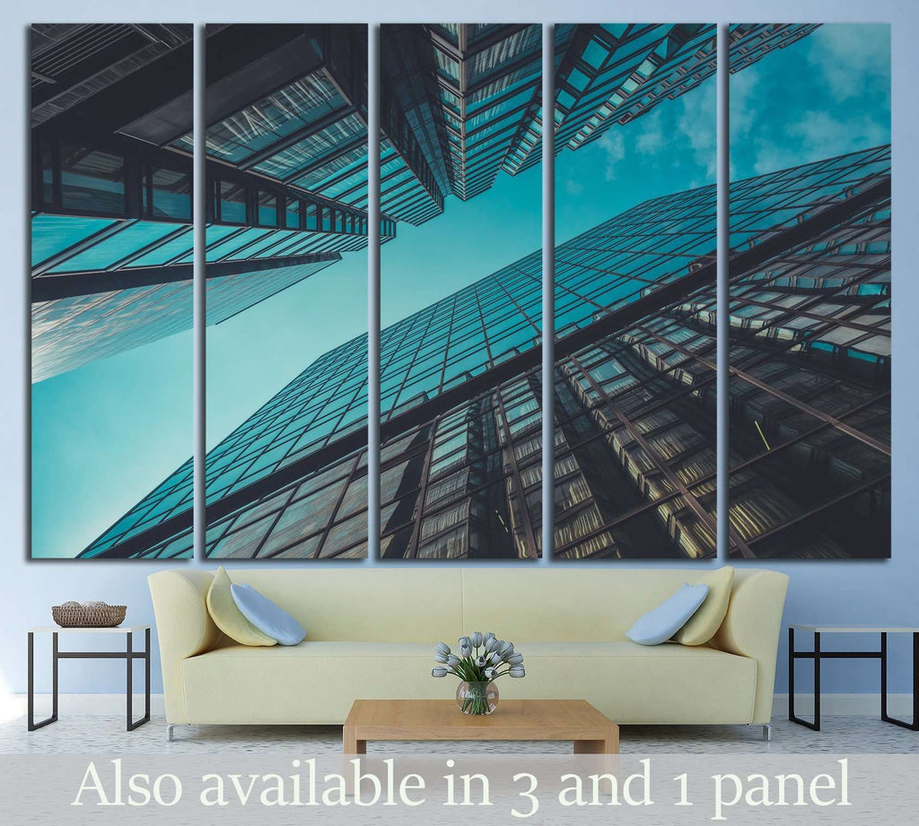 Skyscraper Buildings and Sky View №1440 Ready to Hang Canvas Print