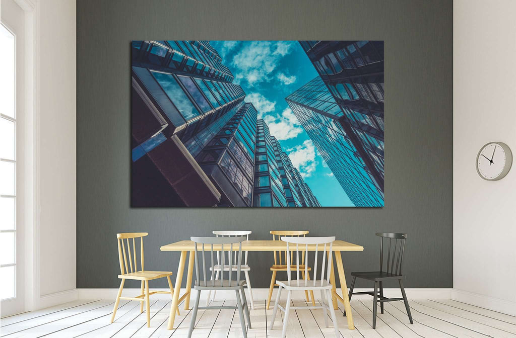 Skyscraper Buildings and Sky View №1578 Ready to Hang Canvas Print