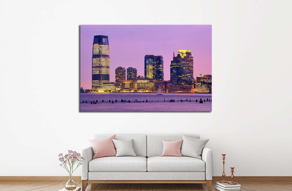 Skyscrapers at Exchange Place in Jersey City, New Jersey №1668 Ready to Hang Canvas Print