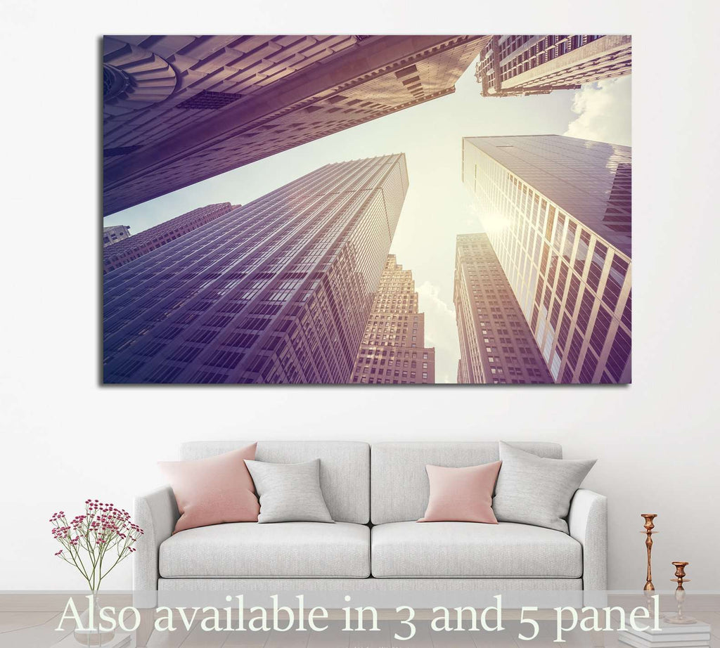 skyscrapers in Manhattan №867 Ready to Hang Canvas Print