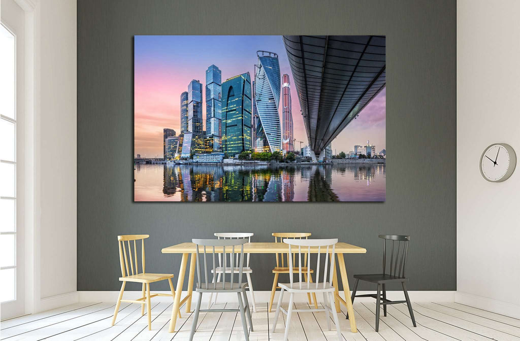 Skyscrapers in Moscow-City №1560 Ready to Hang Canvas Print