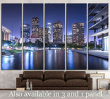 Skyscrapers Los Angeles California at night №1268 Ready to Hang Canvas Print