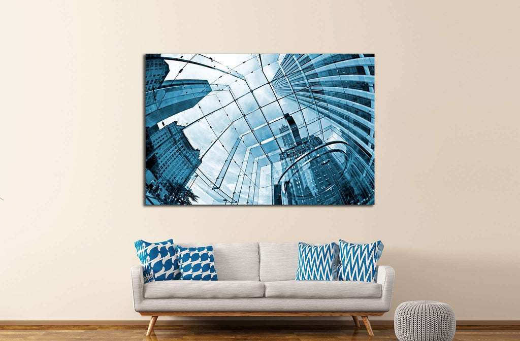 Skyscrapers №1621 Ready to Hang Canvas Print