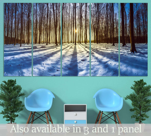 Snow and Trees №3011 Ready to Hang Canvas Print
