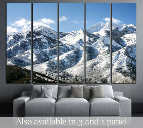 snow mountains and forest №3204 Ready to Hang Canvas Print