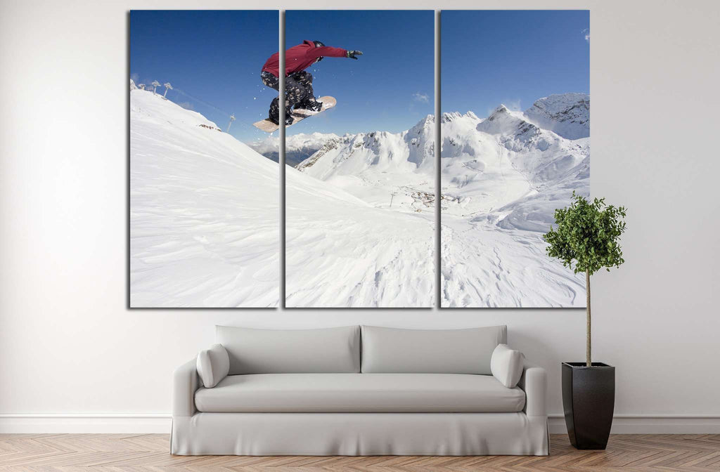 Snowboarder Fly №180 Canvas Print