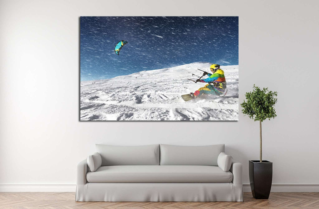 Snowboarder №178 Ready to Hang Canvas Print
