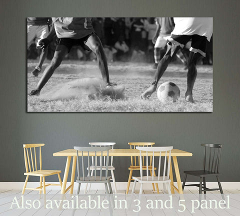 Soccer Match №2121 Ready to Hang Canvas Print