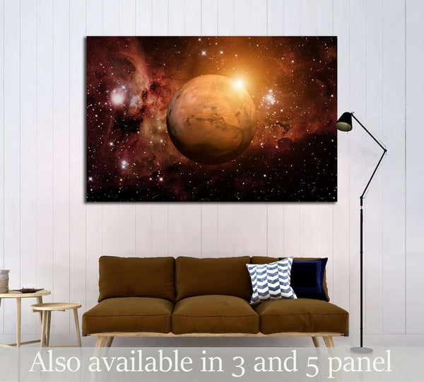 Solar System - Mars. It is the fourth planet from the Sun. №2429 Ready to Hang Canvas Print