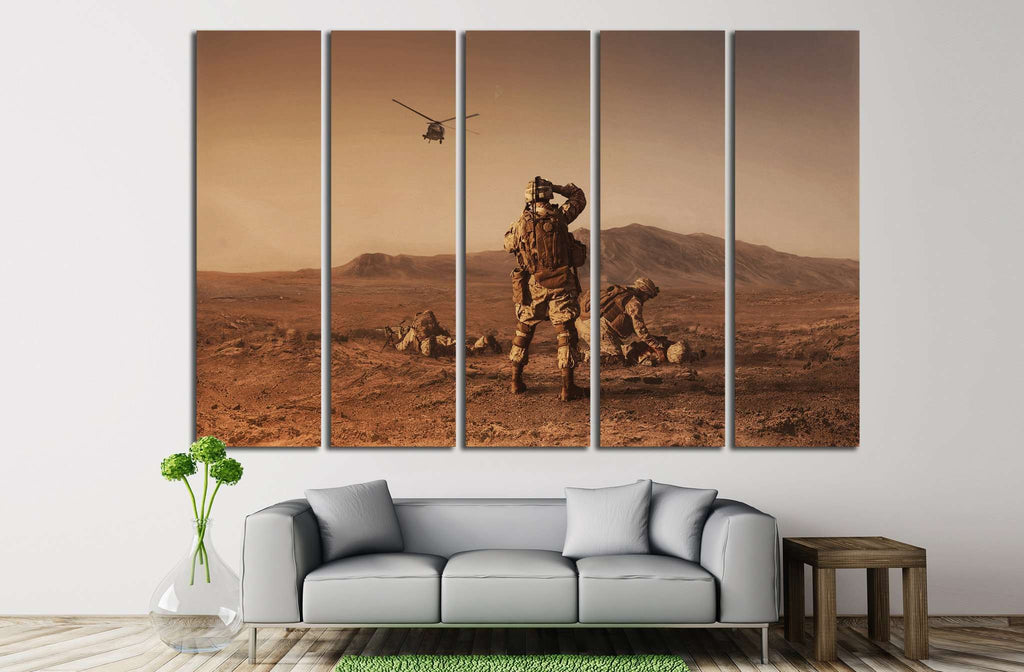 Soldiers №6 Ready to Hang Canvas Print