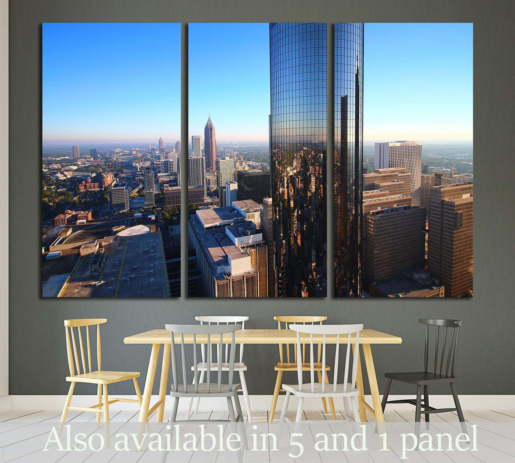 South Atlanta Tower №1653 Ready to Hang Canvas Print