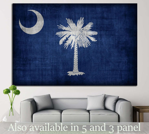 South Carolina flag №685 Ready to Hang Canvas Print
