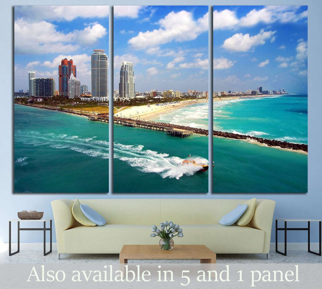 South Miami Beach №1094 Ready to Hang Canvas Print