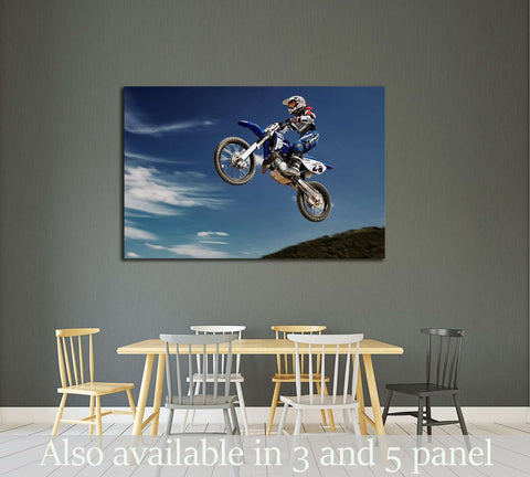 Motocross Poster Print №2475 Ready to Hang Canvas Print