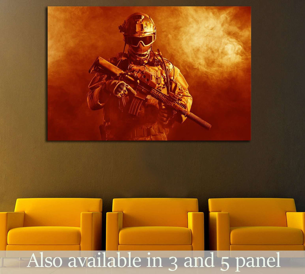 Special forces soldier №550 Ready to Hang Canvas Print