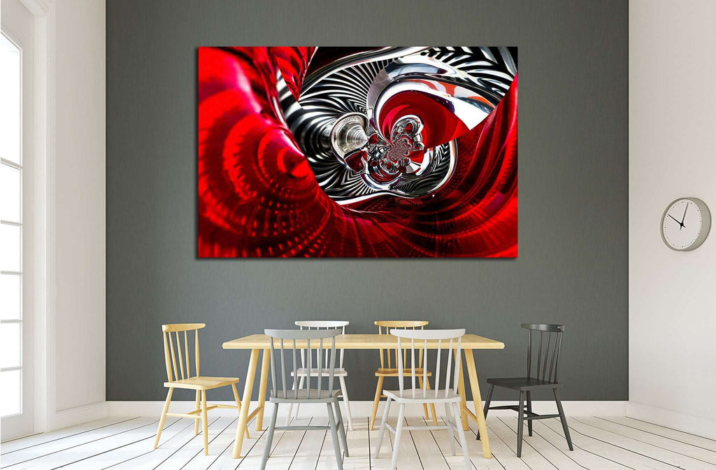 sport car back lights spiral abstract №1613 Ready to Hang Canvas Print