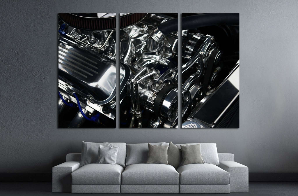 Sport Car Engine №516 Ready to Hang Canvas Print