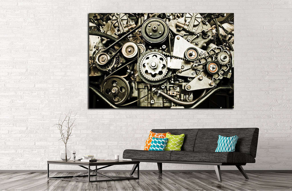 Sport car's engine №140 Ready to Hang Canvas Print