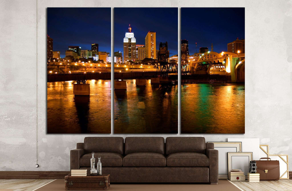 St. Paul, Minnesota skyline №1661 Ready to Hang Canvas Print