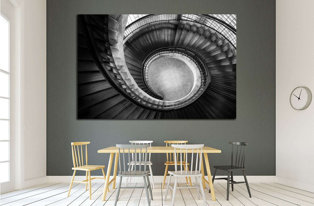 Stair with the spiral twist shape №1604 Ready to Hang Canvas Print