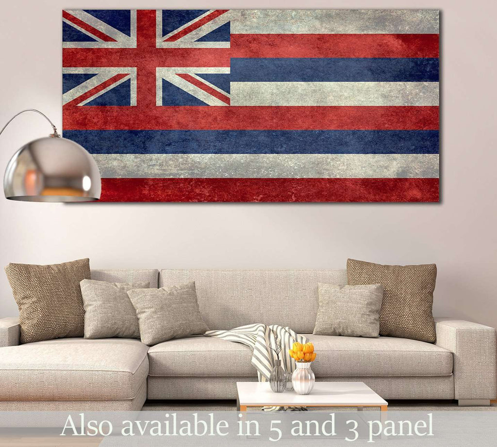 State Flag of Hawaii №830 Ready to Hang Canvas Print