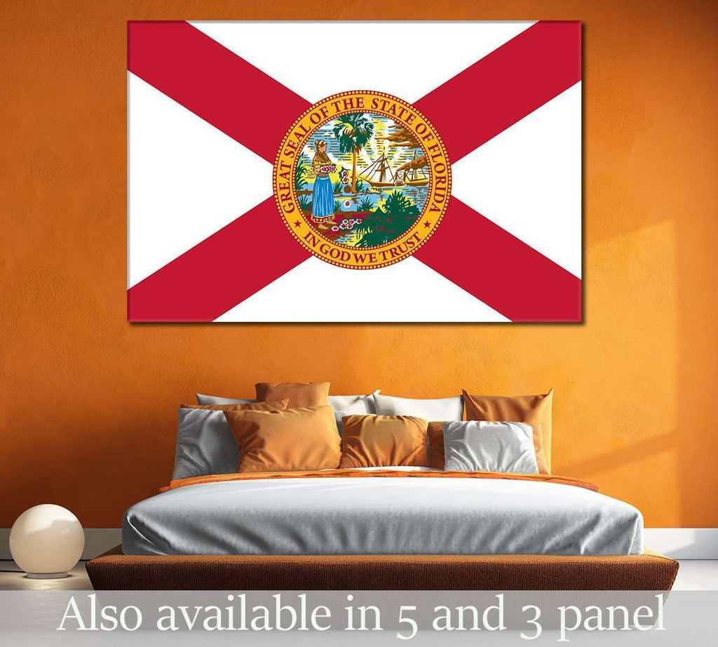 State of Florida №835 Ready to Hang Canvas Print