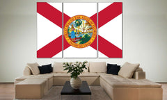 State of Florida №835 Canvas Print