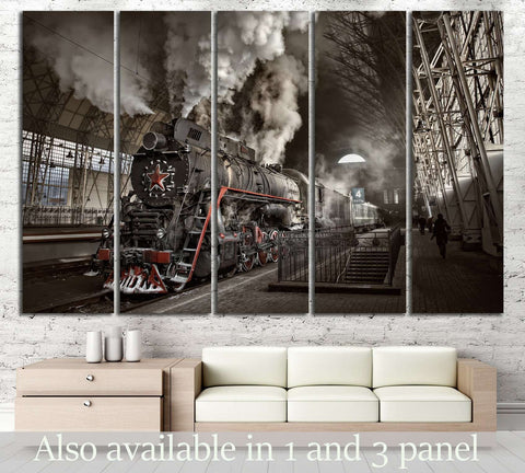 Steam Train at the Station №239 Canvas Print