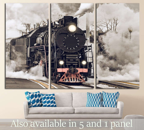 Steam Train №232 Ready to Hang Canvas Print