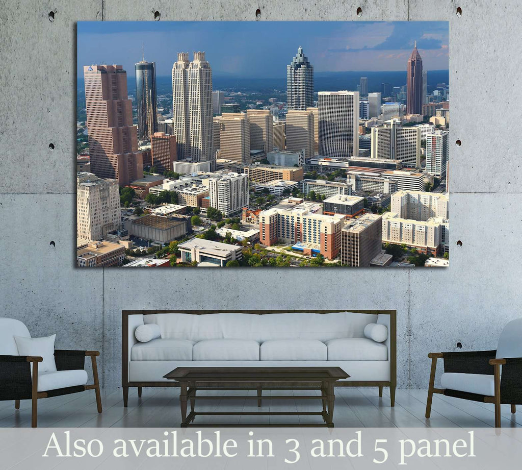 Stormy Atlanta Skies №1652 Ready to Hang Canvas Print