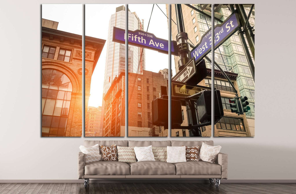 Street sign, Manhattan №870 Ready to Hang Canvas Print