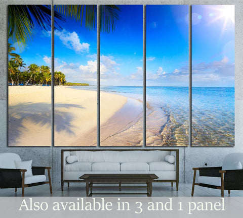 Summer tropical Beach №3194 Ready to Hang Canvas Print