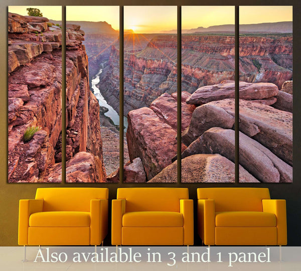 Sunrise at Toroweap in Grand Canyon National Park №3116 Ready to Hang Canvas Print