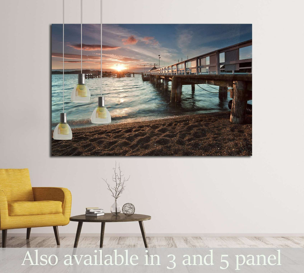 Sunset at Russell, Bay of Islands, New Zealand №2225 Ready to Hang Canvas Print