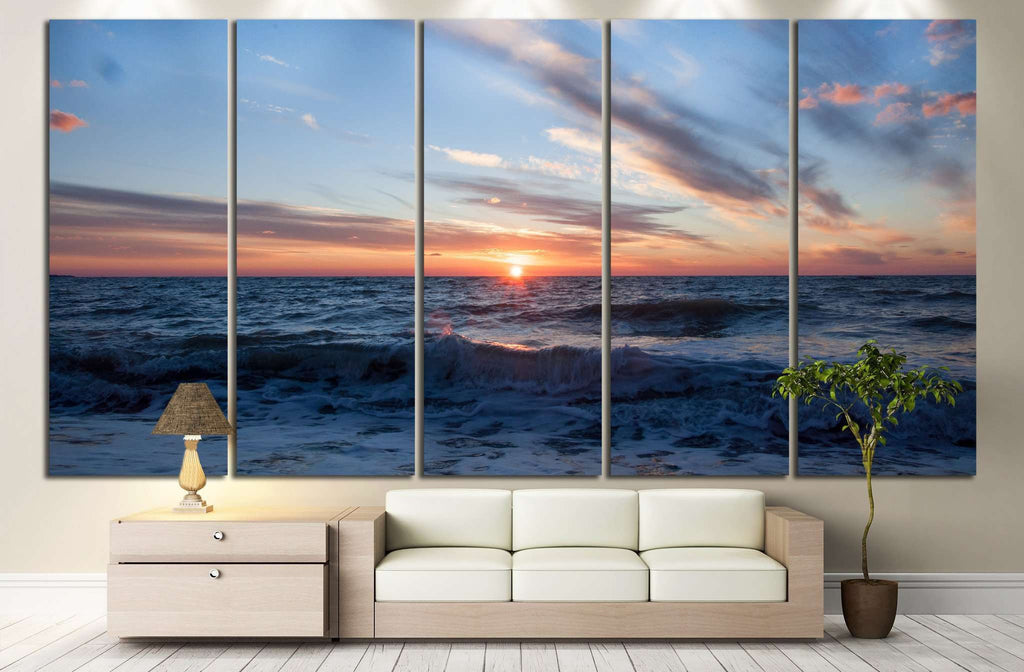 Sunset on the horizon №839 Ready to Hang Canvas Print