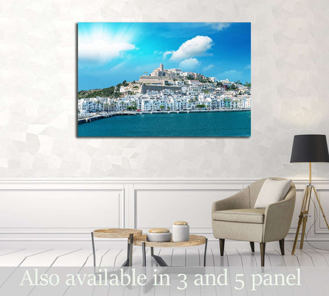 Sunset over Ibiza Port, Spain. №3045 Ready to Hang Canvas Print