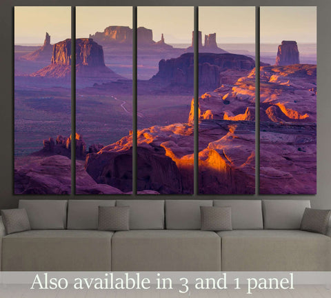 Sunset over the Hunt's Mesa №2690 Ready to Hang Canvas Print