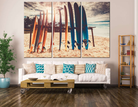 Surfboards Wall Decor - Canvas Print