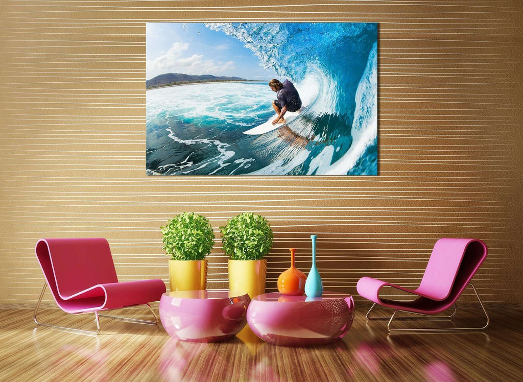Surfing №655 Ready to Hang Canvas Print